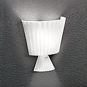 Leucos Katerina Wall Light - 24cm H x 22cm W x 11cm D - Glossy White