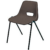 Jemini Stacking Chair Polypropylene Charcoal