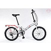 Universal Wayfarer 20inch Folding Bike - Silver/Pink