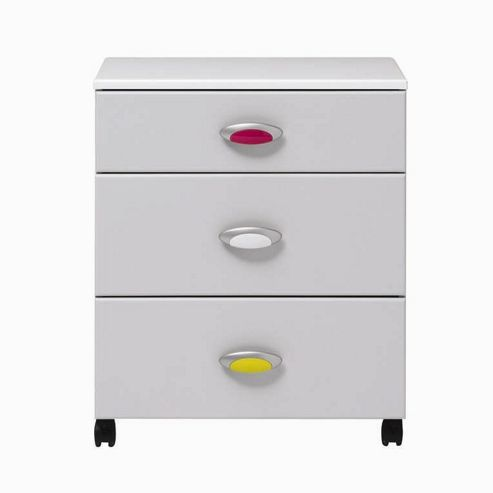 Caxton MyPod 3 Drawer Chest in White and Grey