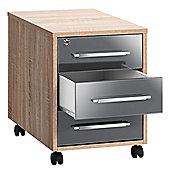 Maja- Möbel Filing Cabinet - Sonoma-Oak / Grey High Gloss