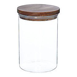 Linea Acacia Storage Jar Medium