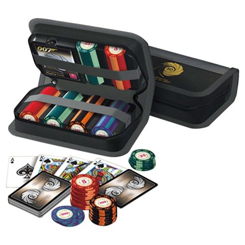 Cartamundi James Bond 50th 150 Chip Compact Poker Set