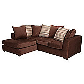 Toronto Fabric Corner Sofa Left Hand Facing, Chocolate