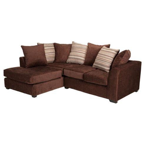 Toronto Fabric Corner Sofa Left Hand Facing, Chocolate