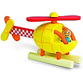 Janod Wooden Magnetic Helicopter Toy