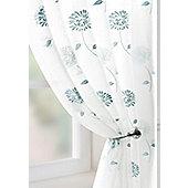 Carnation Voile Curtain Panel - Blue