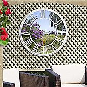 Suntime Roman Numeral Clock Garden Mirror
