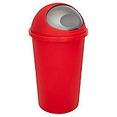 Tesco 45L Kitchen Bullet Bin - Red