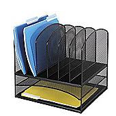 Safco Onyx Mesh 2 Shelf Desk Organiser