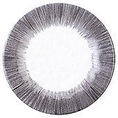 Tesco Outer Stripe Melamine Side Plate, Grey