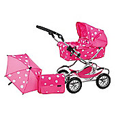Mamas & Papas X-cel Deluxe Pram Set, Strawberry Snow