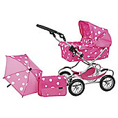 Mamas & Papas Xcel Dolls Deluxe Pram Set, Strawberry Snow