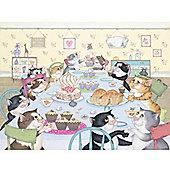 Crazy Cats - Enjoy Tea & Cake Puzzle
