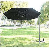 Outsunny 3m Garden Parasol Banana Umbrella Cantilever Black