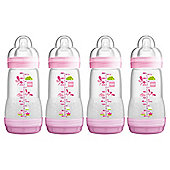 MAM Anti Colic 260ml Bottle 4pk Girl