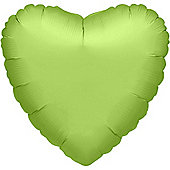 Lime Green Heart Balloon - 32' Foil (each)