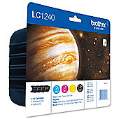 Brother LC1240 Value Blister Pack Ink Cartridge Pack - Full Set (Black/Cyan/Magenta/Yellow) for MFCJ6510DW MFCJ6710DW