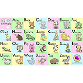Animal Alphabet Cartoons Canvass