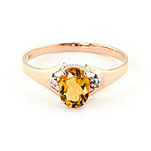 QP Jewellers Diamond & Citrine Oval Desire Ring in 14K Rose Gold