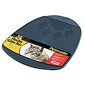 Petmate Cat Litter Mat Flexible in Peacock Blue