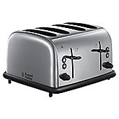 Russell Hobbs 20710 Wide Slot 4 Slice Toaster - Stainless Steel