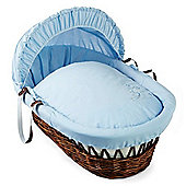 Clair de Lune Dark Wicker Moses Basket (Starburst Blue)