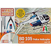 ITALERI - My First Model Kit - B0 105 Police Helicopter - Scale 1:32 12003