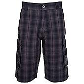 Mountain Warehouse Check Men's Cargo Short - Grey