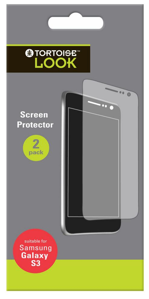 Tortoise™ Look Screen Protector Samsung Galaxy SIII Twin Pack Clear