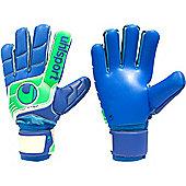 Uhlsport Fangmaschine Aquasoft Hn Windbreaker Goalkeeper Gloves - Blue