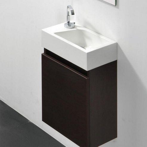 Buy prestige brussel wall mounted cloakroom vanity unit for Bathroom cabinets 400mm wide
