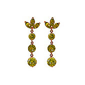 QP Jewellers 8.70ct Peridot Petal Bomb Earrings in 14K Rose Gold