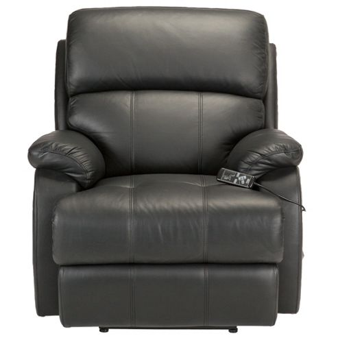 Massage Leather Recliner Chair Black