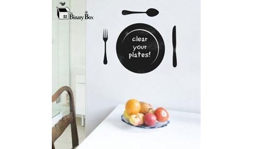 Blackboard Plate Wall Sticker