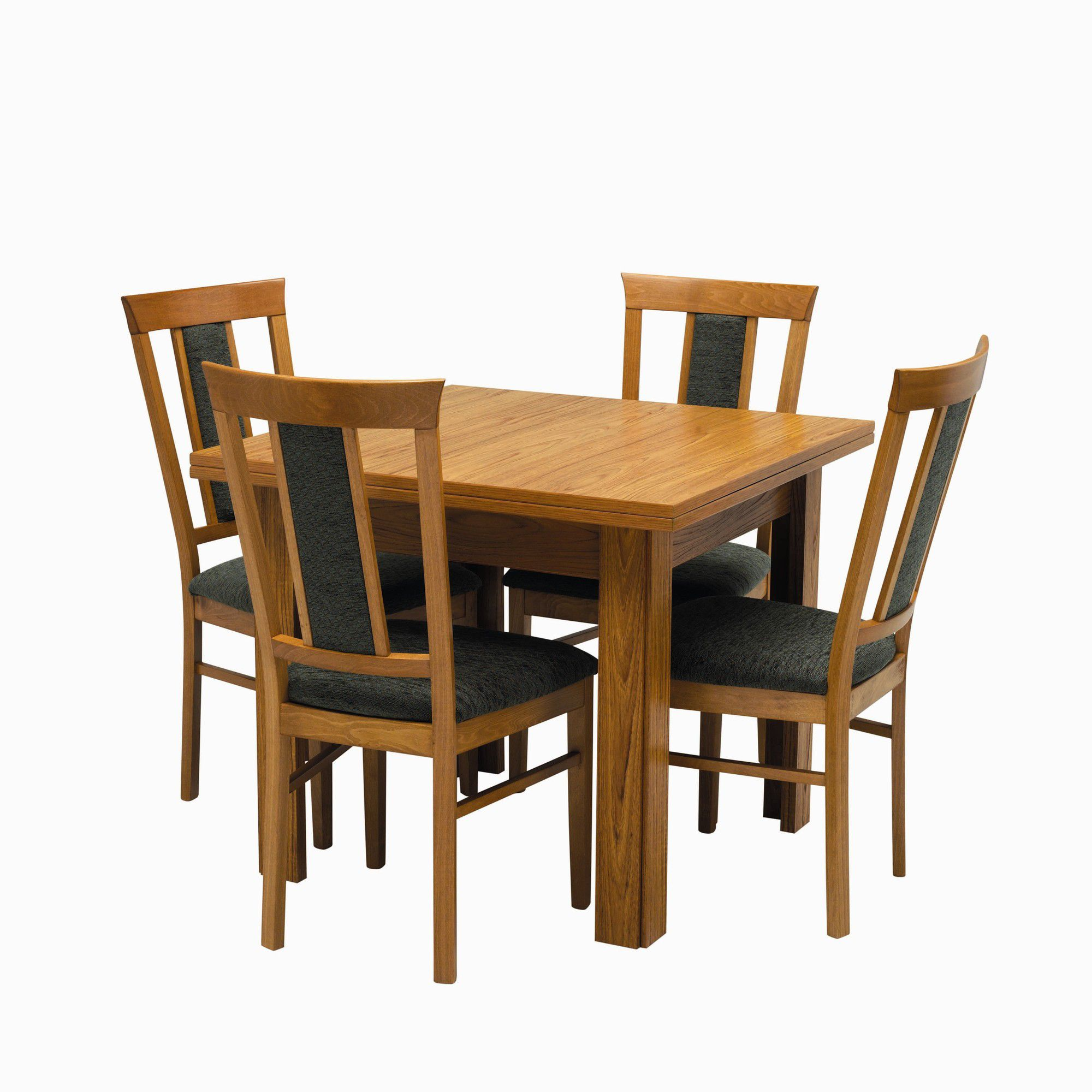 Caxton Tennyson Butterfly 4 Chair Dining Set - Green at Tesco Direct