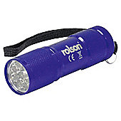 Rolson Coloured 9 LED Torch