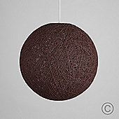 Bjorn 23cm Rattan Ball Ceiling Light Pendant Shade in Brown
