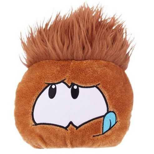 Disney Club Penguin Brown Jumbo Puffle Soft Toy - Series 3