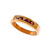 QP Jewellers 0.60ct Garnet Princess Prestige Ring in 14K Rose Gold