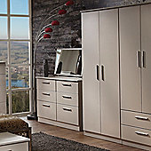 Welcome Furniture Contrast Tall Plain Wardrobe - Mushroom