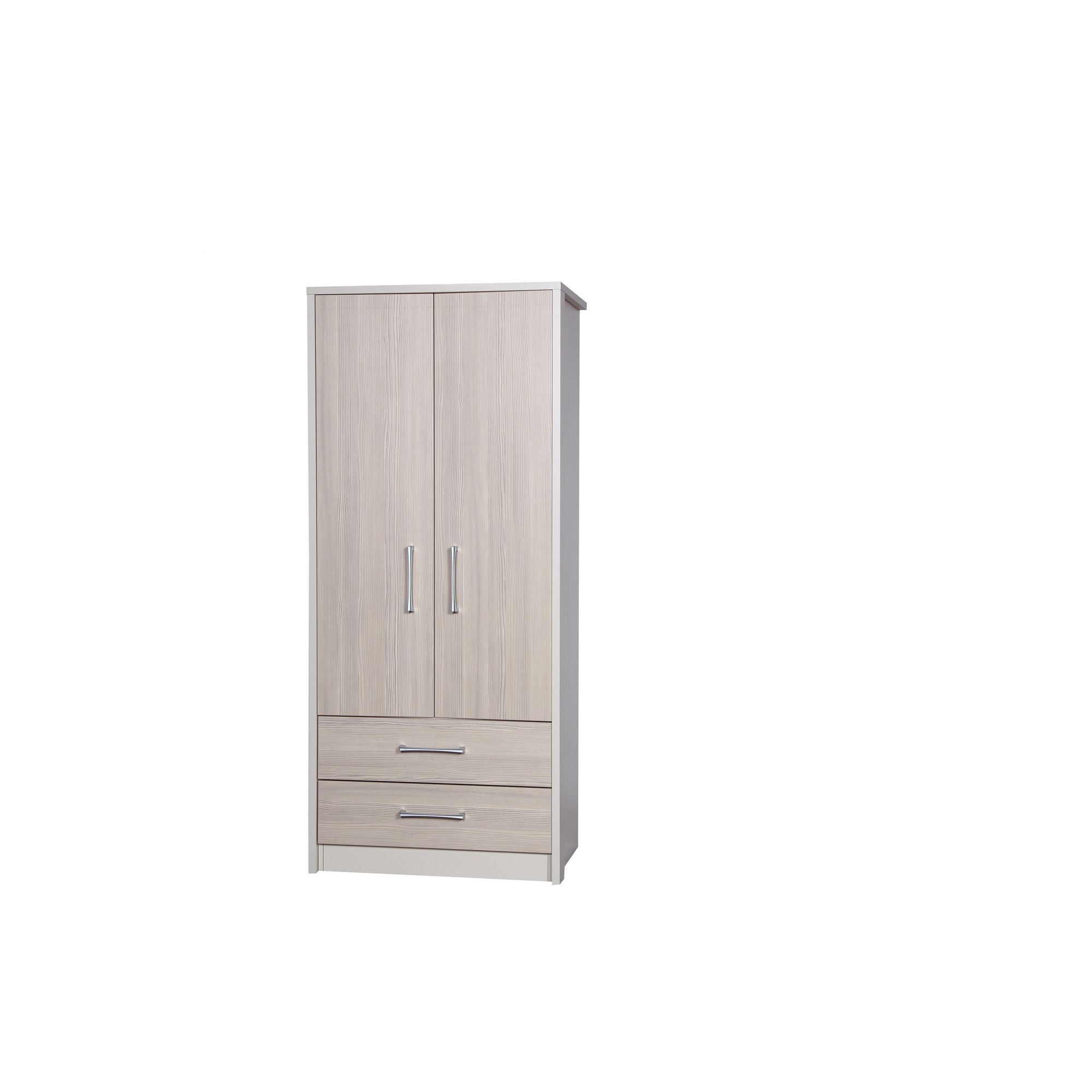 Alto Furniture Avola 2 Drawer Combi Wardrobe - Cream Carcass With Champagne Avola at Tesco Direct