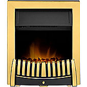 Adam Elise Inset Electric Fire in Brass