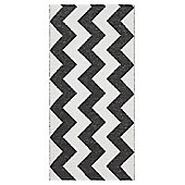 Swedy Mora Black / White Rug - Runner 60 cm x 200 cm (2 ft x 6 ft 7 in)