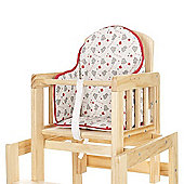 Tiny Tatty Teddy Highchair Insert (Red)