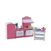Rosebud Village Wooden House Kitchen Set