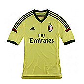 2014-15 AC Milan Adidas 3rd Football Shirt - Gold