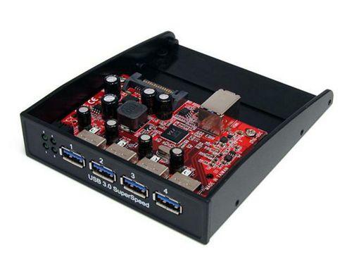StarTech USB 3.0 Front Panel 4 Port Hub - 3.5 - 5.25 inch Bay