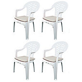 Pack of 4 Garden Chair Cushions - Fits Resol Palma / Cool - Beige