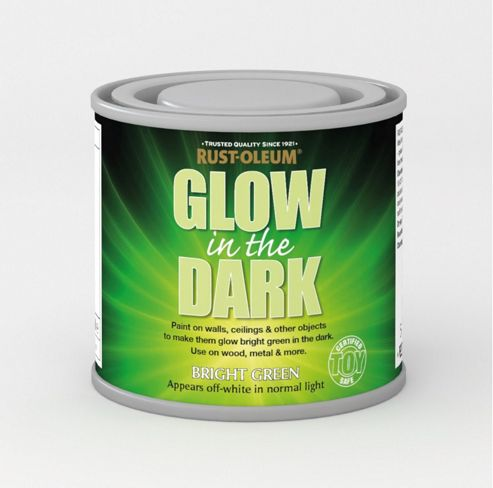 buy rust oleum glow in the dark green brush on toy safe paint 125ml. Black Bedroom Furniture Sets. Home Design Ideas